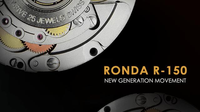 Відтепер всі автоматичні годинники KLEYNOD збираються на базі швейцарських механізмів нового покоління RONDA R-150